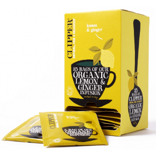 Clipper Lemon Ginger Teabags