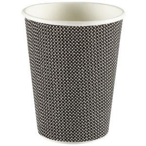 Black Ribbed Cups