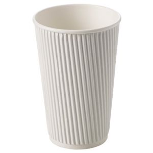 16oz White Ripple Cups