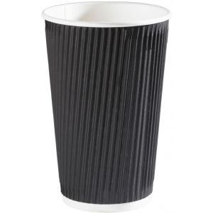 16 oz Black Ripple Cups