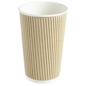 Kraft Ripple Disposable Cup 16oz