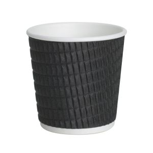 4oz Black Cross Ripple Cups
