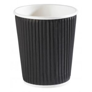 Black Ripple Disposable Cups 8oz
