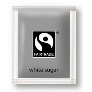 White Fairtrade Sugar Sachets