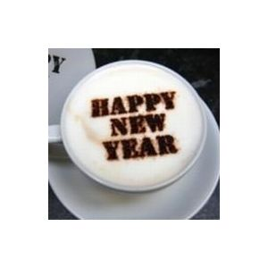 Happy New Year Coffee Stencil