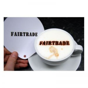 fairtrade coffee stencil