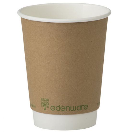 12oz Double Wall Compostable Cups Edenware (100)