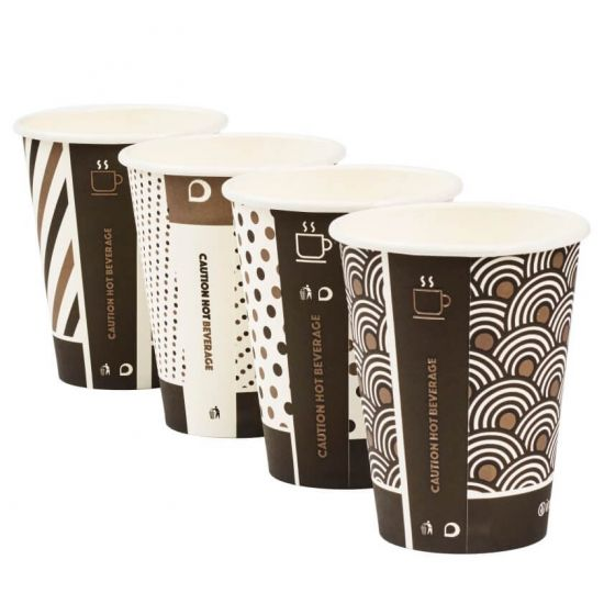 Wholesale 12oz Single Wall Disposable Coffee Paper cup Eco