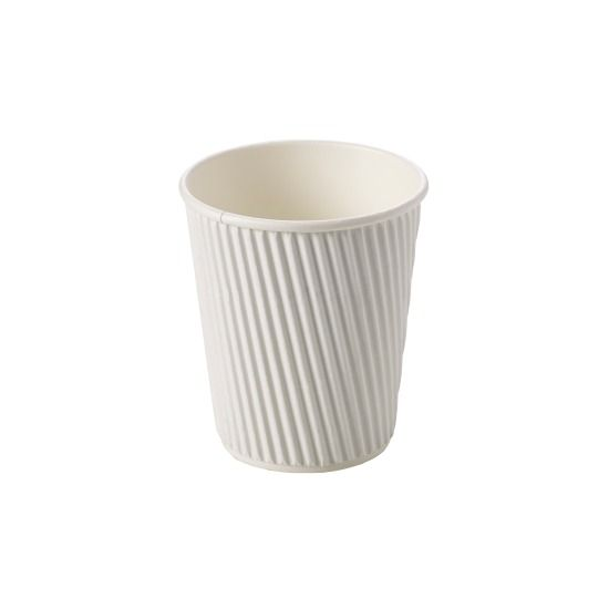 Kraft Ripple Paper Cups 12oz | 500 Disposable Cups Per Case | Next Day Delivery