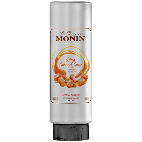 Monin Salted Caramel Sauce 500ml Squeezable Bottle A1 Coffee