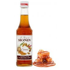 Mini Monin Caramel Flavouring Syrup 250ml Bottle A1 Coffee