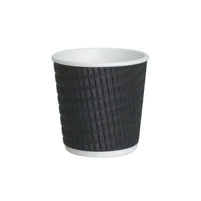 Black Ripple Disposable Cups 4oz