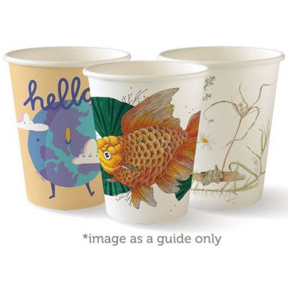 8oz Art Paper Coffee Cups