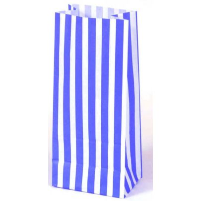 Blue Striped Paper Bags