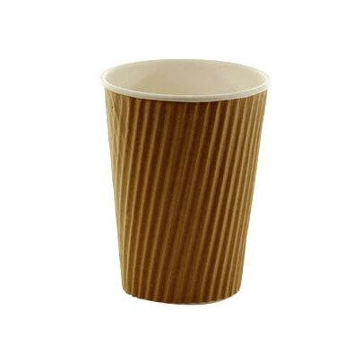16oz Kraft Ripple Disposable Cups