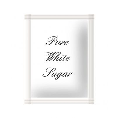 English Script White Sachets