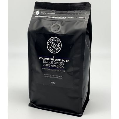 Planet Java Colombian Excelso EP 100% Arabica Coffee Beans (500g)