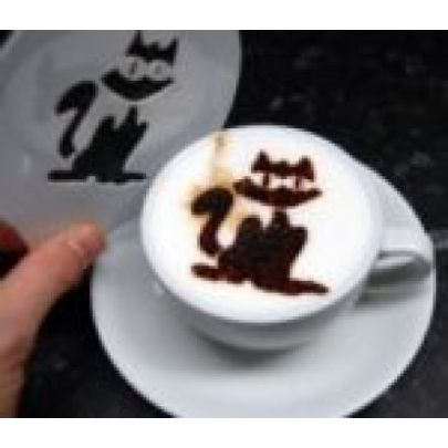 cat coffee stencils