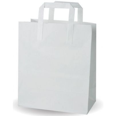 Large White Paper Bags