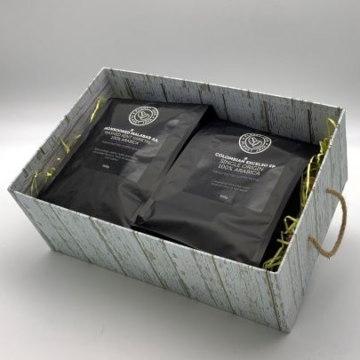 """Planet Java """"Gourmet"""" Gift Pack - Monsooned Malabar & Colombian Excelso Coffee Beans"""
