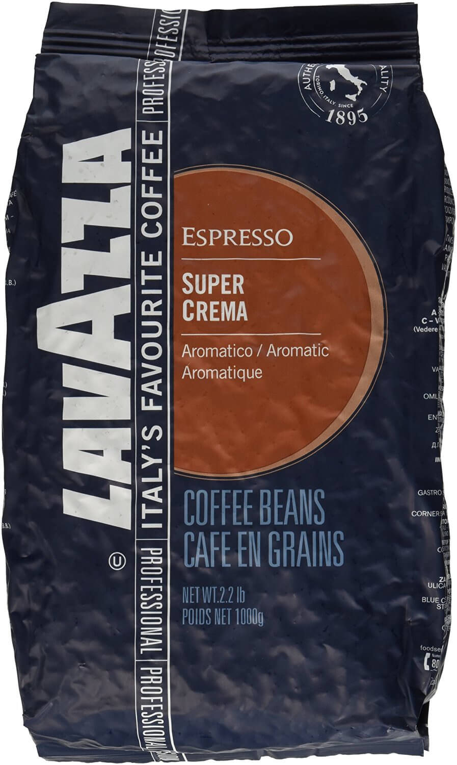 Lavazza Super Crema Espresso Coffee Beans 1 Kg Bag A1