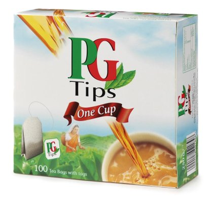 Pg Tips Individually Tagged Teabags Box Of 100 Tea Bags