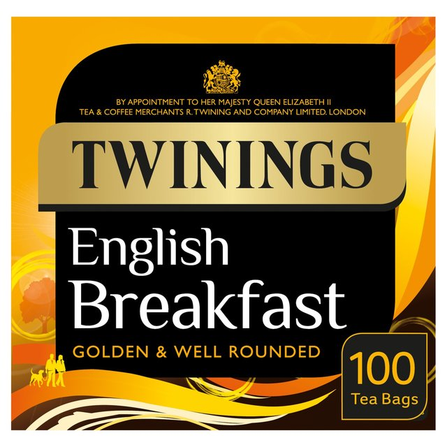 Twinings English Breakfast Tagged Teabags Box Of 100 Tea